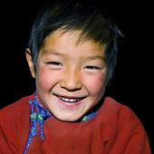 Asian boy with a beautiful smile.
