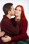 Embrace a loving couple close-up
