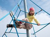 Child On Climbing Frame