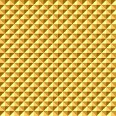 Seamless geometric golden relief texture. Vector art.