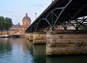 Pont Des Arts Bridge & Institut De France Building, Paris France.