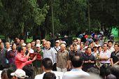 chinese people sing in park, Beijing
