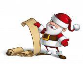 Smilling Santa - Gift Scroll