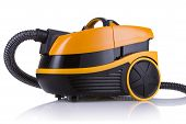 Orange Vacuum Cleaner On White Background
