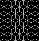 Seamless geometric op art texture. Illustration.