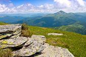 Summer scene in Carpathian Mountains, Ukraine