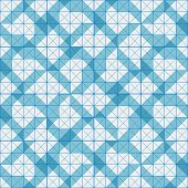 Seamless Pattern Of Blue Plaid Geometric Shapes