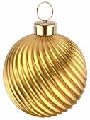 Christmas Ball Gold Decoration Golden Glossy Yellow