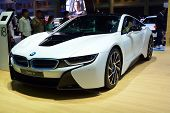 Nonthaburi - December 1: New Bmw I8 Sports Car Display At Thailand International Motor Expo On Decem