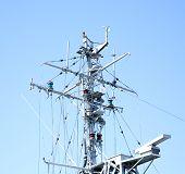 Navigation Complex Navy Ship Radar Antenna