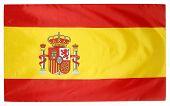 Closeup of silky Spanish flag