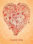 Templatedesign element paper heart for love card