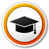 Graduation Orange Icon