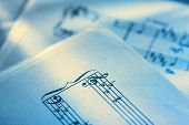 Classical Music Notes On Paper