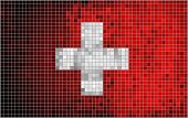 Abstract Mosaic flag of Switzerland