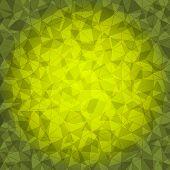 Design Yellow Triangle Crack Background