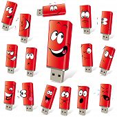 Red Flash Disk