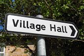 A Village Hall Sign.