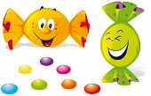 image of bonbon  - bonbons with happy smile face  - JPG