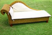 sofa on a lawn