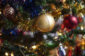 Gold Christmas ball decoration