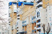 Perm, Russia - Apr,25, 2014: Residential Building. Population Of Perm Is 1,026,477 People.