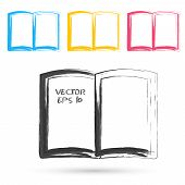 Vector sketch style of book icons.