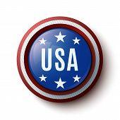 USA round icon