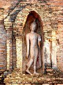 Buddha Statue In Sukhothai Northern Of Thailand