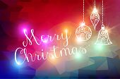 Merry Christmas Bokeh Lights Background