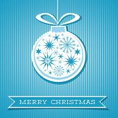 Merry Christmas Card With Decorative Ornament