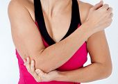 Young Woman Having Pain In His Elbow - Sports Injury