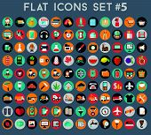 Big set of flat vector icons with modern colors of travel, marketing, hipster ,science, education ,b
