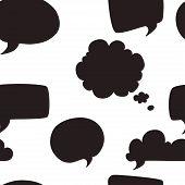 Speech Bubbles Pattern.