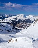 Ski slopes, mountains and Avoriaz
