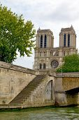 foto of notre dame  - Photo shows Notre Dame de Paris or just Notre Dame that is a historic religious cathedral on the eastern half of the  - JPG