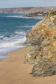 Waves And Coastline At Loe Bar, Porthleven