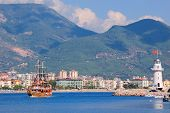 Bay Near The Alanya City. Turkey