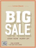 Big sale flyer, poster, banner or template.
