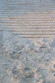 Stairs on the beach
