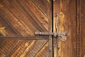 Barn Door Latch With Padlock