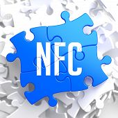 NFC on Blue Puzzle