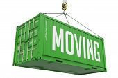 Moving - Green Hanging Cargo Container.