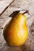 Bright Yellow Juicy Pear