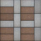 Rectangular Paving Slabs Laid as  Square. Seamless Texture.