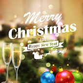 illustration of abstract Merry Christmas and Happy New Year Background