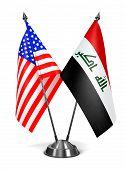 USA and Iraq - Miniature Flags.