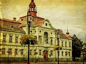 Old Photo Of City Hall Building In Zrenjanin, Serbia