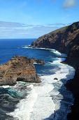 Rough and steep coastline
