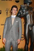 LOS ANGELES - DEC 10:  Ansel Elgort at the 21st Annual Screen Actors Guild Awards Nominations Announcement at the Pacific Design Center on December 10, 2014 in West Hollywood, CA